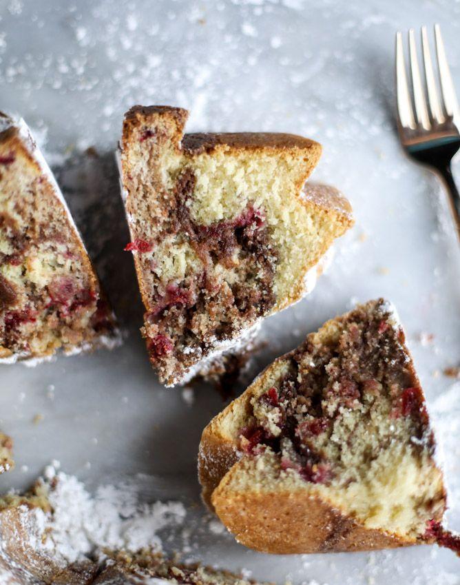 leftover cranberry sauce greek yogurt coffee cake I howsweeteats.com