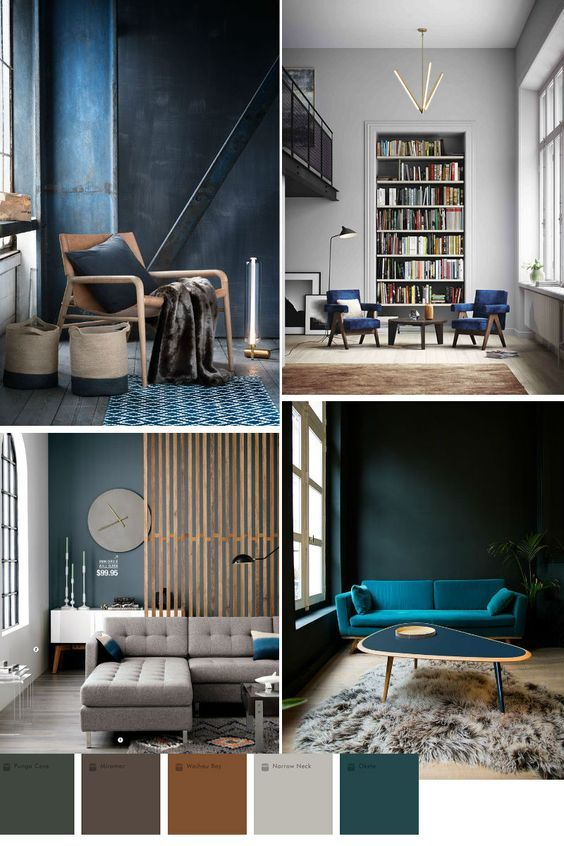 blue color trend in home decor 2016 2017