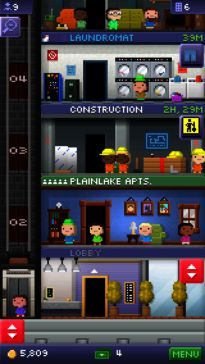 Tiny Tower app lets you build a tiny tower and manage the businesses and bitizens that inhabit it!