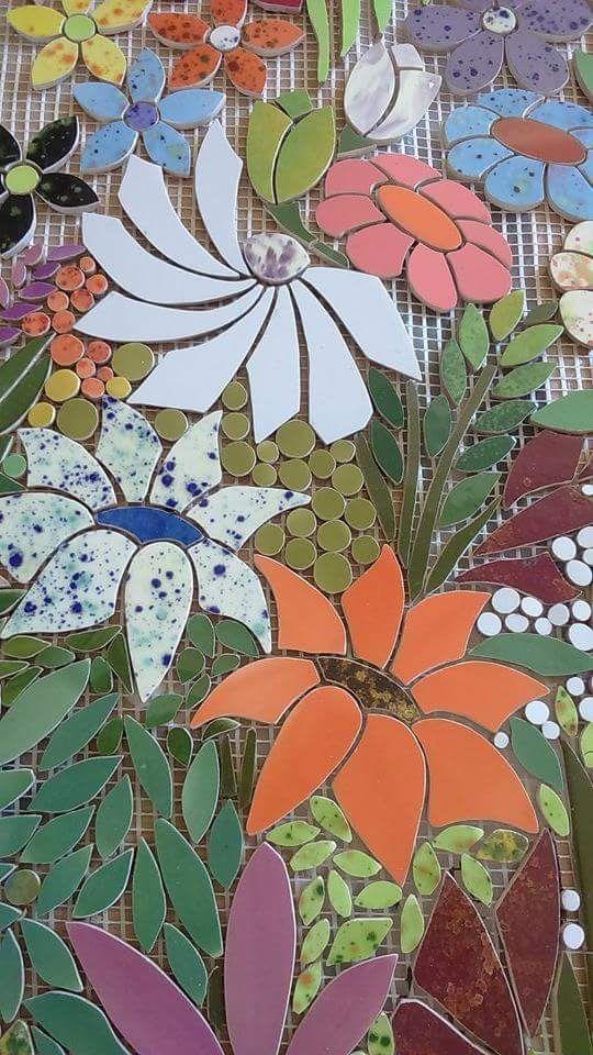 Beautiful flowers mosaic