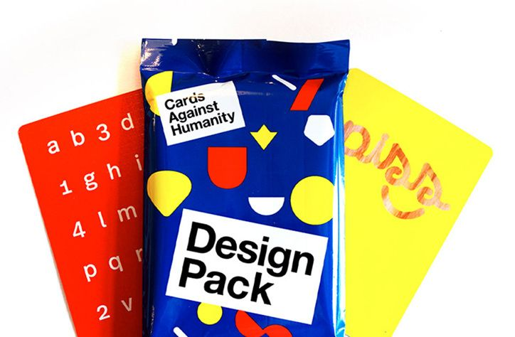 New Cards Against Humanity pack with designs by Milton Glaser, Paula Scher and Erik Spiekermann.