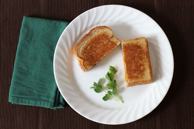 Fresh Herb Grilled Cheese: Loulou Downtown