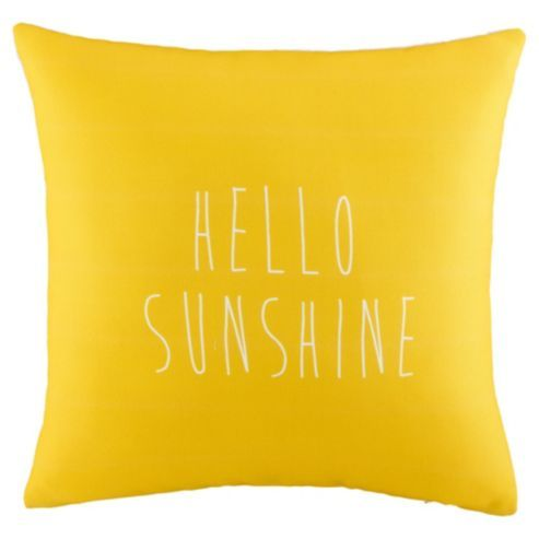Hello Sunshine Cushion - Tesco - £8