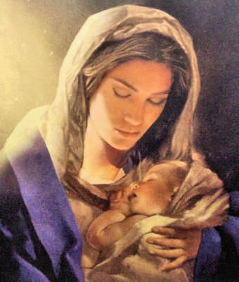 Mary Holding The Baby Jesus He Sent His Son