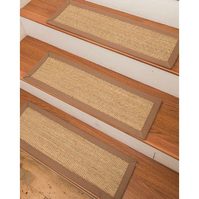 Best Bloomsbury Market Conti Seagrass Carpet Beige Stair Tread 400 x 300