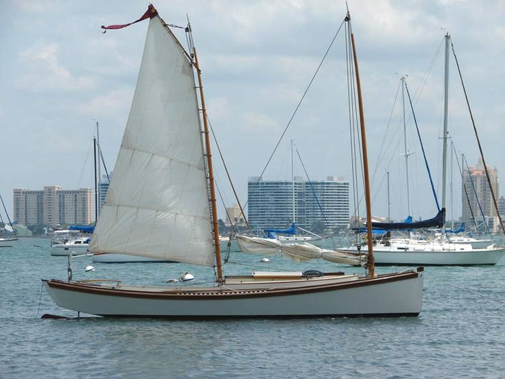 Egret - lovely oyster tonging sharpie design for shallow water: and seaworthy too.   Ketch Me If ...