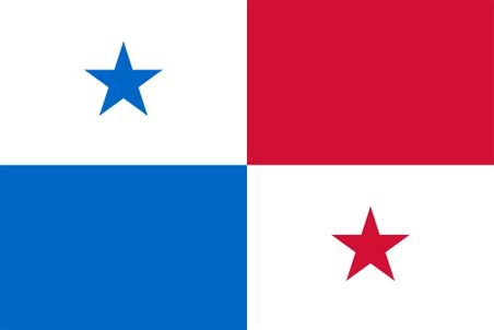 Panama - The flag of Panama was officially adopted on November 3, 1903. The flag was modeled after the USA flag, however, the colored stars are said to represent the country's conservative (red) and liberal (blue) parties. White symbolizes peace.