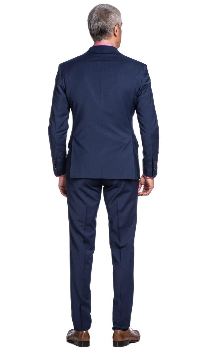 Dopasowany (slim fit) garnitur MAR+Sto elegancka propozycja dla mężczyzn, którzy noszą garnitur na co dzień.Domieszka włókna…