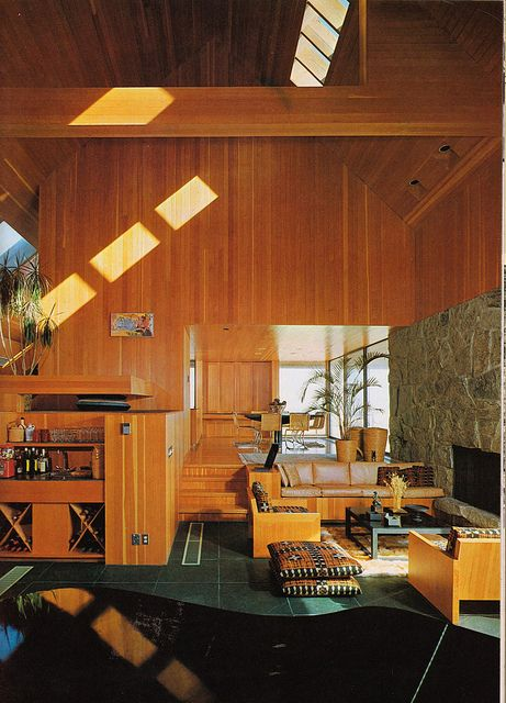 style interior design i can see this scaled down to make a killer tiny house design - 70s Home Design