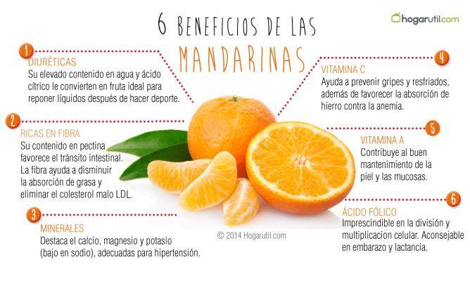 Mandarina, fruta contra las grasas. Mandarina, una fruta llena de vitaminas que ayuda a fortalecer las defensas. Descubre los beneficios para tu salud. #mandarina #salud