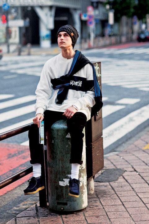 白ソックス。 - 海外のストリートスナップ・ファッションスナップ