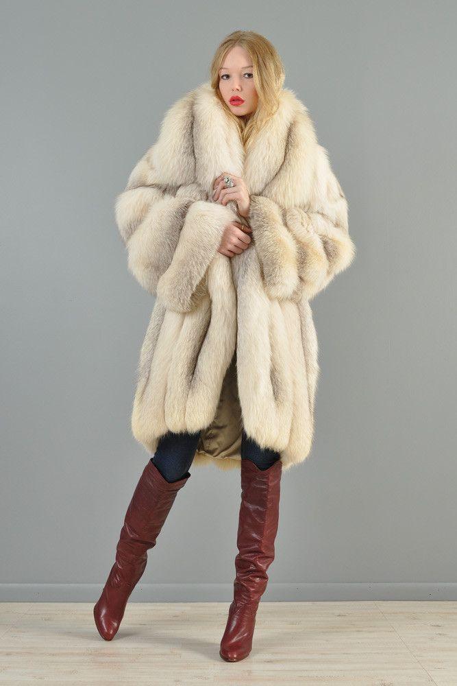 Claude Montana Shadow Fox Fur Coat   BUSTOWN MODERN   Claude ...