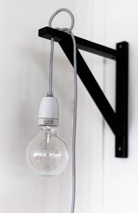 Diy Bracket Lamp Cord Bulb Diy Pinterest