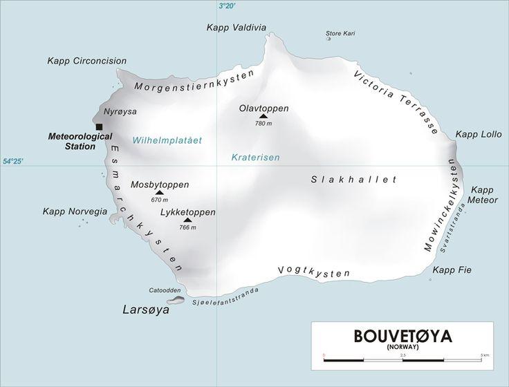 Carte Ile Bouvet
