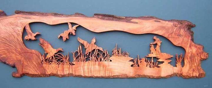 Scroll saw art by Terry Foltz