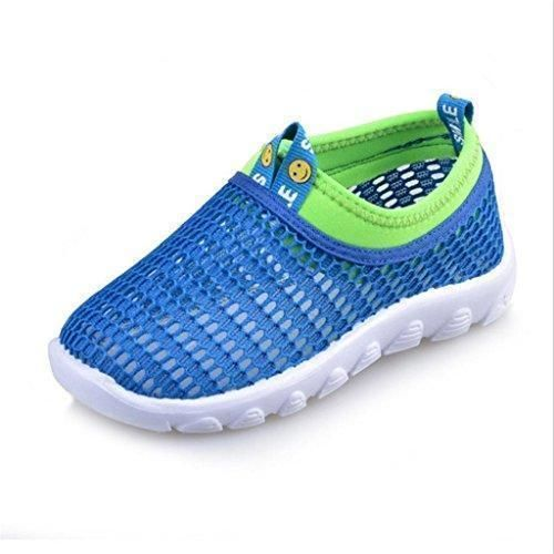 Oferta: 6.19€. Comprar Ofertas de Zapatillas De Deporte Infantil Zapatos Huecos Transpirable Antideslizante De Verano para Niños Niñas - 24, Azul barato. ¡Mira las ofertas!