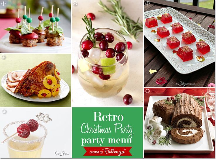 Food Christmas Decorations Part - 23: Holiday Birthday Party With A Retro Vibe. Retro ChristmasChristmas Party FoodChristmas  DecorationsBirthday ...