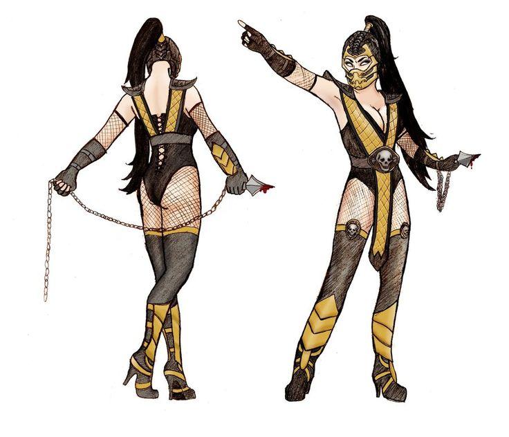 lady scorpion mortal kombat google search - Mortal Kombat Smoke Halloween Costume