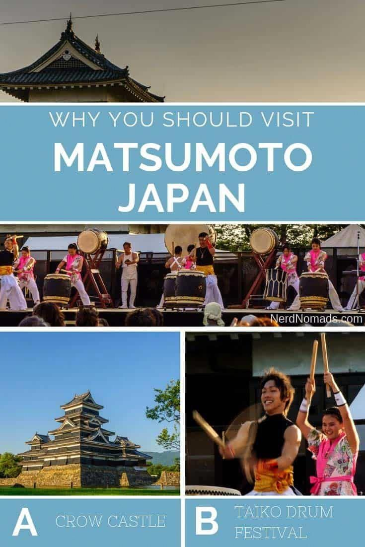 Crow Castle and Taiko Drum Festival in Matsumoto