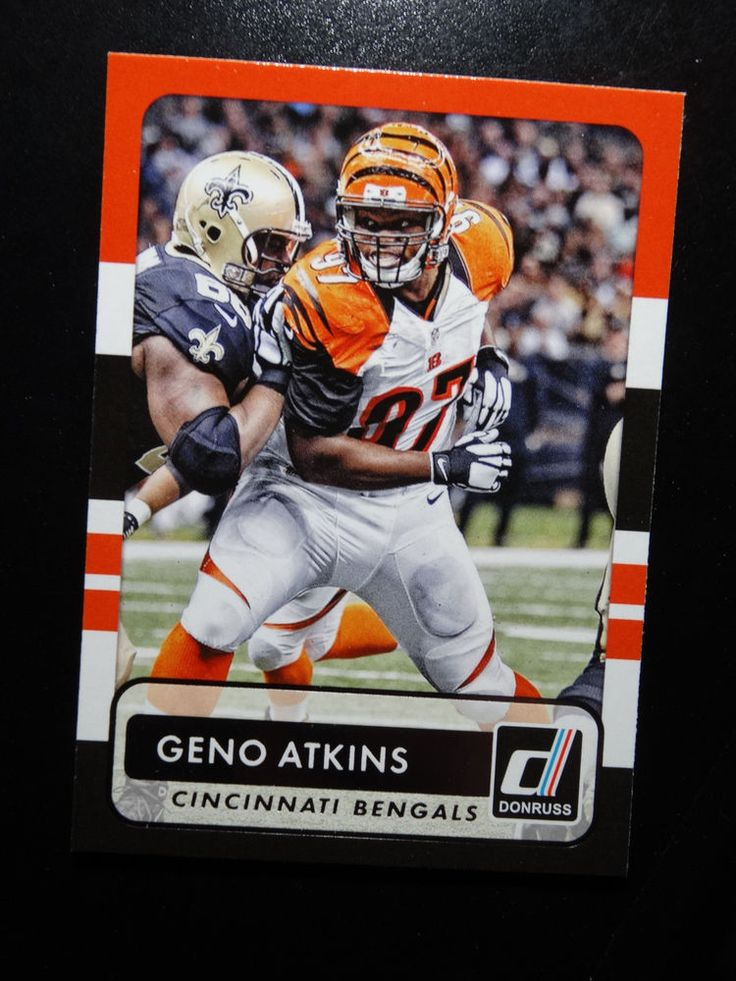 2015 Panini Donruss #131 Geno Atkins Cincinnati Bengals Card #CincinnatiBengals