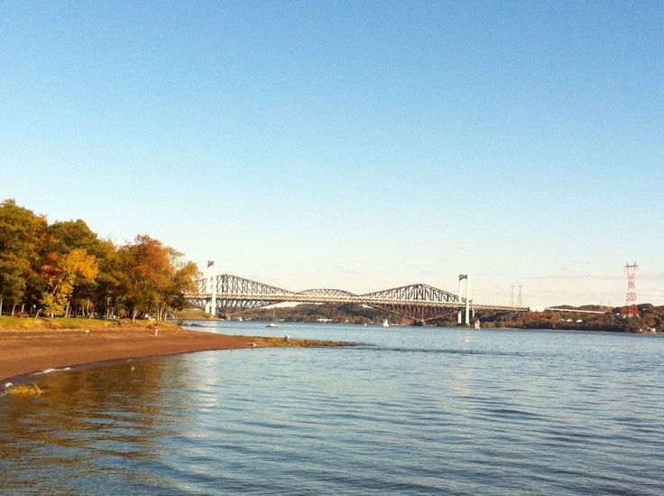 Cap Rouge, 15 minutes from Quebec City, nice walk on a sunday afternoon !  Pierre-Laporte #bridge