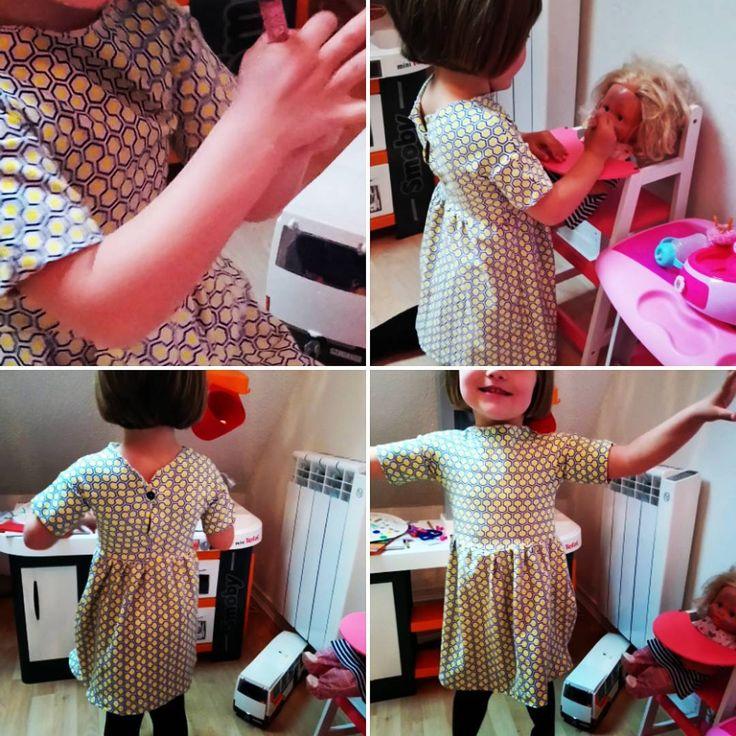 Petite robe #sienna @la_maison_victor toujours dans mes jersey #idcreativesrennes #ilovejersey #couture elle va avoir plein de robes et autre pour cet été