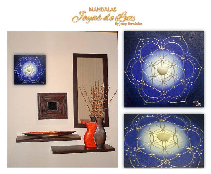 Mandala con cristal de cuarzo blanco y energizado con el Arcangel Miguel