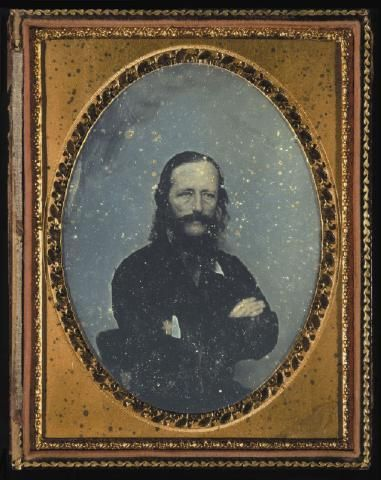 Daguerreotype of William Colenso. Photographer, John Nicol Crombie. Dated 1858.  Collection of Hawke's Bay Museums Trust, Ruawharo Tā-ū-rangi, 3629