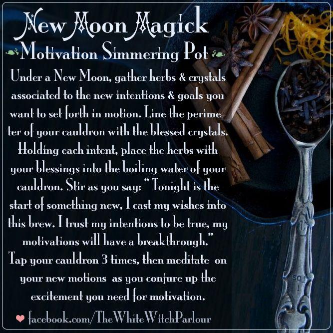 New Moon Motivation Spell Prayer Affirmation Ritual