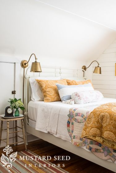 guest room decorating | miss mustard seed | pine cone hill bedding
