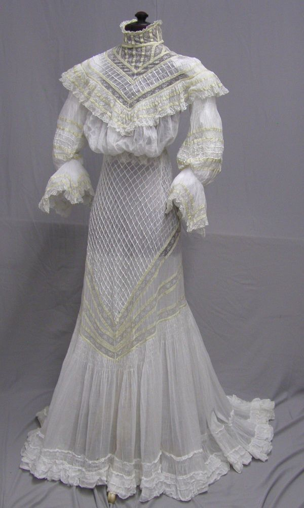 1904 Gibson Girl Lace and Cotton 2 pc. Ensemble | Ebay