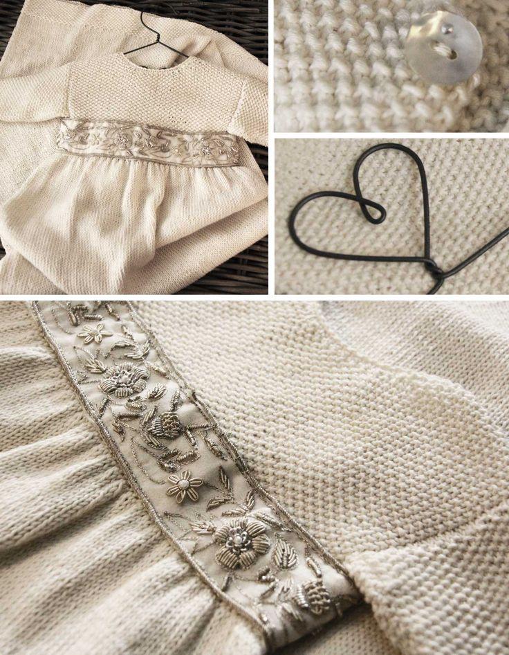Dåpskjole i perlestrikk - Mine mønstre - Butikken min - Design by Marte Helgetun