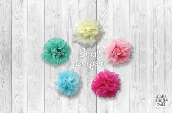 Paper pompom small size / choose color pink by StarsStripesAndDots, €0.99