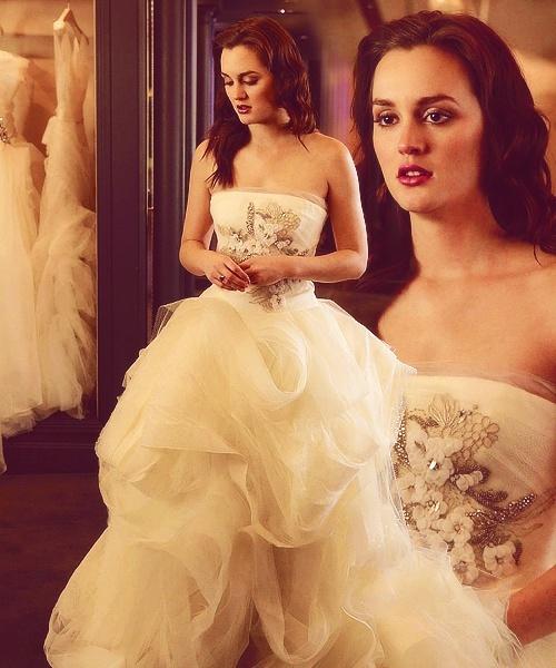 Leighton Meester : Gossip Girl Wedding Dress By Vera Wang