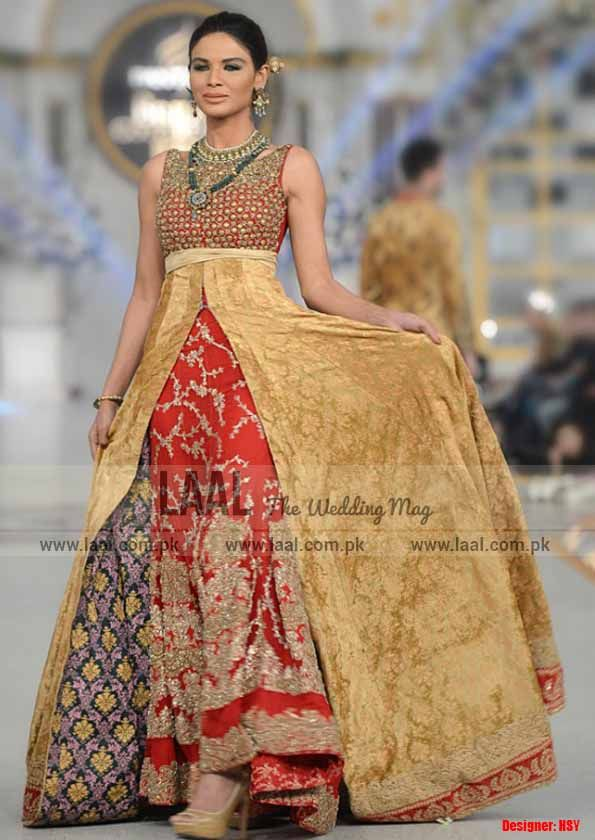 Gown Style Bridal Dresses by HSY, find more on laal.com.pk