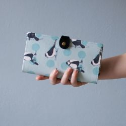 wallet  Velká peněženka Sýkorky - LOOKrecia| Ručně šité originální kabelky, homeopatická pouzdra, dámské peněženky, kabelky pro děti, bokovky, elegantní ledvinky