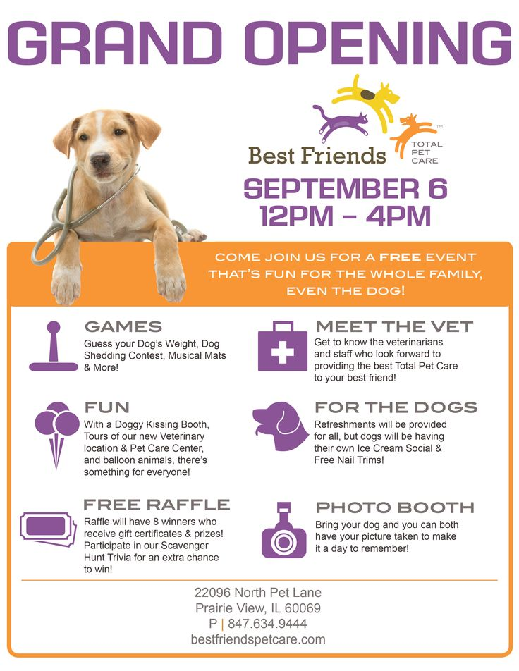 Grand Opening Event Best Friends Veterinary Hospital In White Plains Ny Join Us On For Doggy Fun And Games Free Raffle Prizes Free Nail Trims