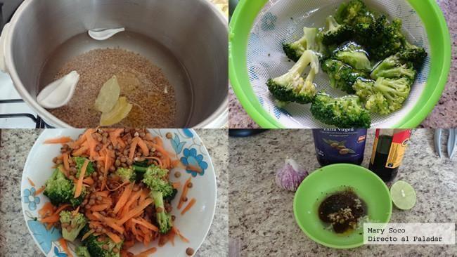 Ensalada de brócoli y lentejas