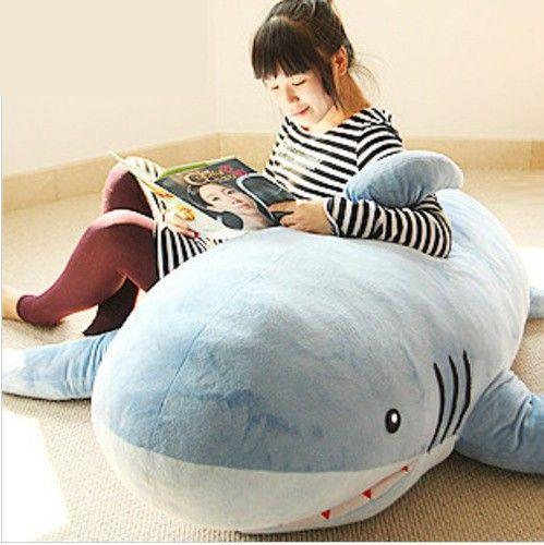 Shark Pillow | Huge Stuffed Plush Shark/ Sofa Cushion/ Throw Pillow