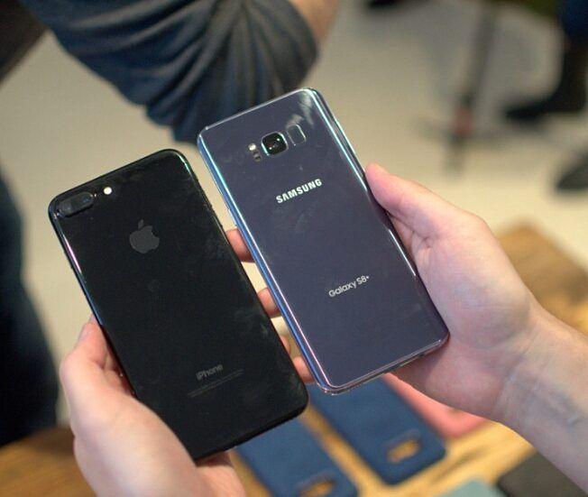 Best mobile...?_  1_Iphone 7plus  2_Galaxy S8+  #200k #iphone #iphone7 #mobile #mobiles #galaxys7 #iOS10 #galaxy #blacksea #waters #goodmorningpost #androidnesia #cameras #touch #id #10ヶ月#mp4 #ipadpro #applewatch #applebees #nicecream#2017 #20