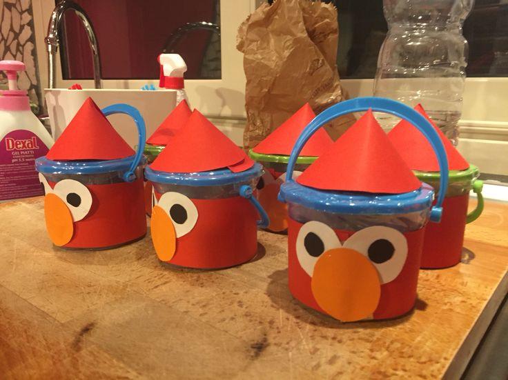 Elmo secchielli con plastilina Per bomboniera compleanno