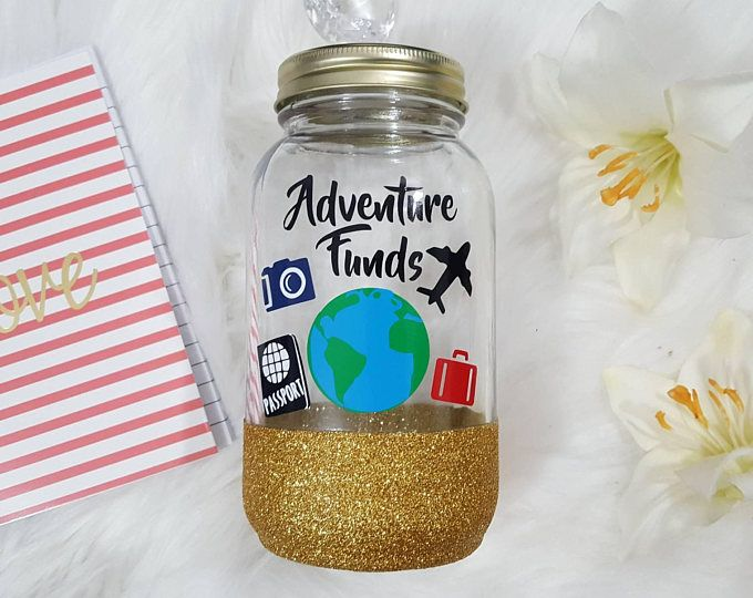 Travel Fund Diy Money Jar Money Bank Coin Jar For Holidays Vacation Adventure Fund Wanderlust Fund Savings Bank Piggy Bank Savings Jar Money Jars Savings Jar Diy