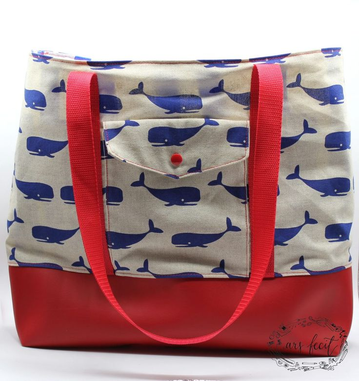 Picknick-Tasche nach dem Gratis Snaply Schnittmuster Picknicktasche