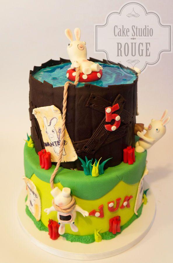 Rabbids invasion cake — Birthday Cakes
