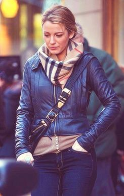 Gossip Girl Fashion. Burberry scarf; Gossip Girl is very inspirational when it comes to Fall fashion!!