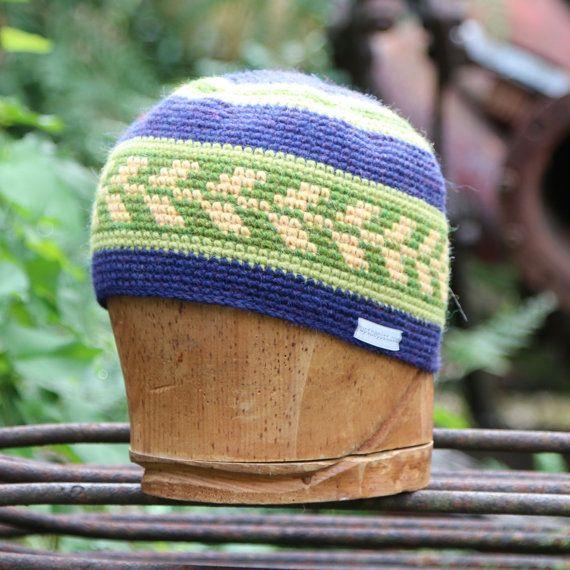 Wool beanie, tapestry crochet beanie, alpaca crochet by @UpthePitt www.upthepitt.com