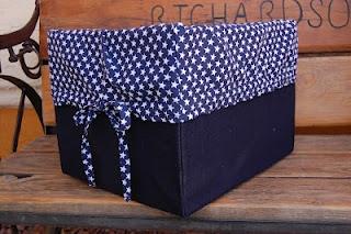 Babblings and More: Repurpose: Diaper Box into Denim Box
