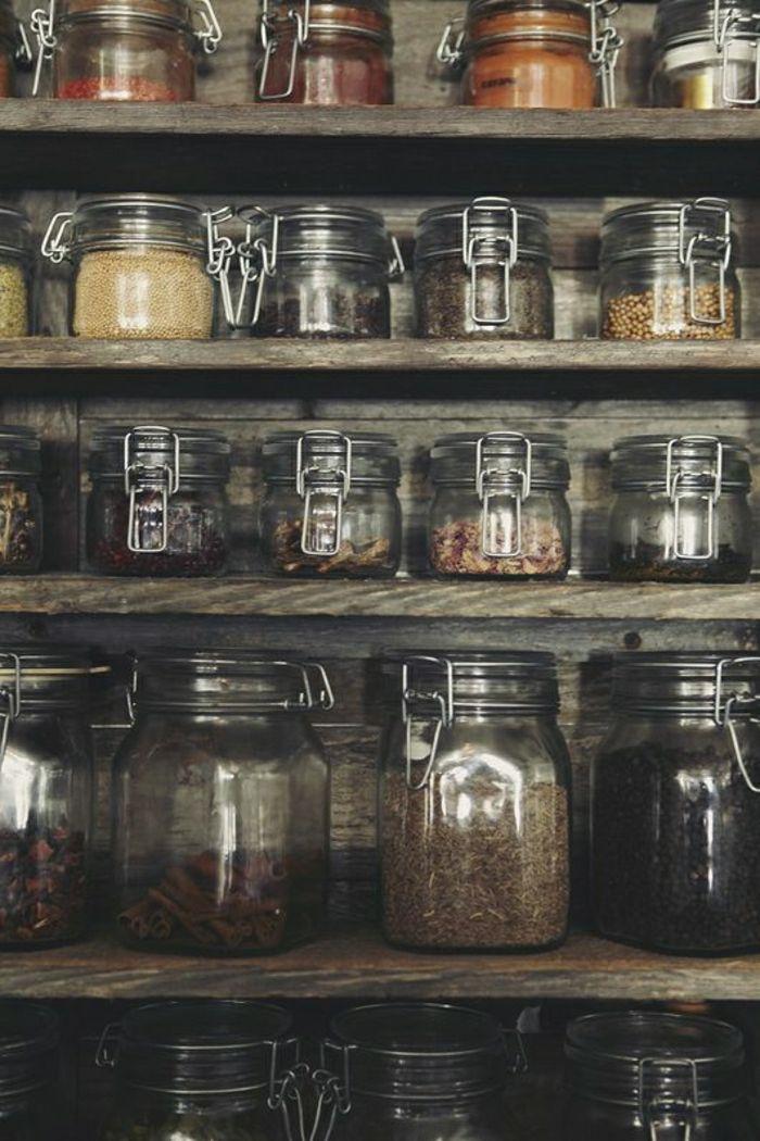 bocaux le parfait en verre et le bocaux conserve pour conserver les produits
