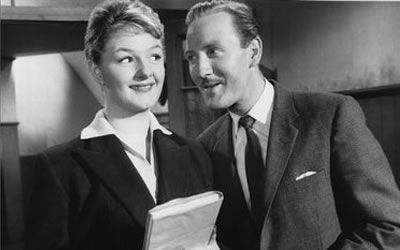 Joan Sims and Leslie Phillips in Carry On Teacher (1959)