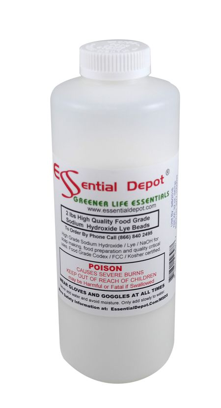 Check out the deal on 32 lbs Food Grade Sodium Hydroxide Lye Micro Beads - 16 x 2lb Bottles at Essential Depot